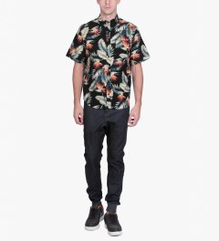 HUF Black Birds of Paradise S/S Woven Shirt Model Picutre