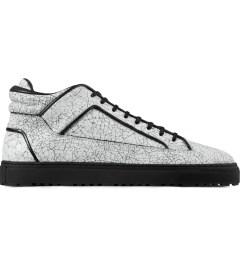 ETQ White Marbleized Mid Top 2 Shoes Picutre