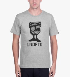 Undefeated Heather Grey Camo U-Man T-Shirt Model Picutre