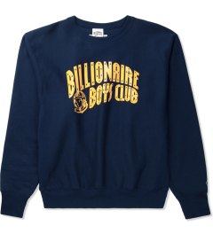 Billionaire Boys Club Navy Billionaire Boys Club x Champion S/S Classic Arch Logo Sweater Picutre