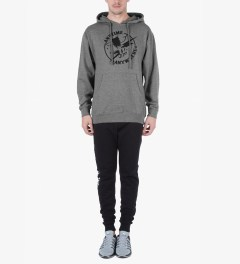 Heel Bruise Heather Grey AA Claw Pullover Hoodie Model Picutre