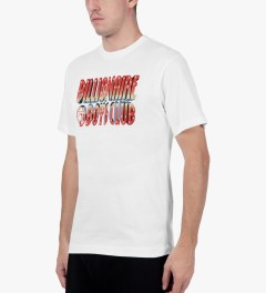 Billionaire Boys Club White S/S 3D Straight Logo T-Shirt Model Picutre