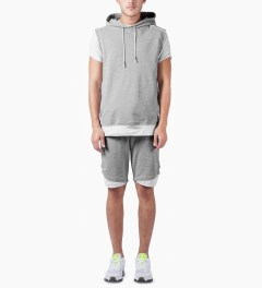 3.W.Y Grey Fadeaway Shorts Model Picutre