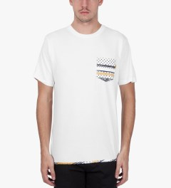 Stussy White Dot Tom Pocket T-Shirt Model Picutre