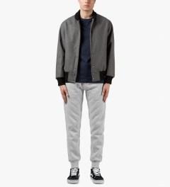 Primitive Grey Quilted Traveller Jogger Sweatpants Model Picutre