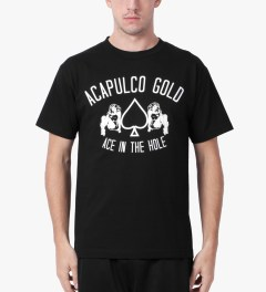 Acapulco Gold Black Ace In The Hole T-Shirt Model Picutre