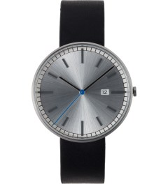 Uniform Wares Brushed/Black Leather 203 Series Calendar Wristwatch Picutre