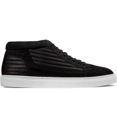 ETQ Black Ribbed Mid Top Sneakers Picutre