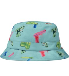 Primitive Aqua Soaked Bucket Hat Picutre