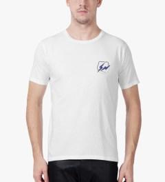 Medicom Toy White/Navy BE@RTEE x fragment design T-Shirt Model Picutre