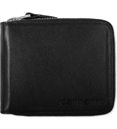 Carhartt WORK IN PROGRESS Black Cow Leather Zip Wallet Picutre