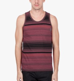 Us Versus Them Red Static Stripe Tank Top Model Picutre