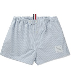 Thom Browne Blue Striped Oxford Boxer Picutre