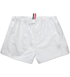 Thom Browne White Oxford Boxer Picutre