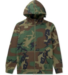 HUF Woodland Camo Original H Logo 2.0 Full Zip Up Hoodie Picutre