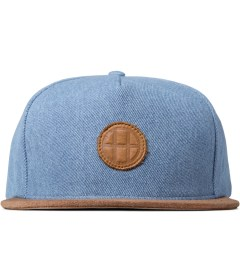 HUF Light Blue Denim Leather Snapback Cap Picutre
