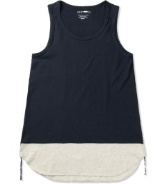 CASH CA Navy Panel Color Tank Top Picutre