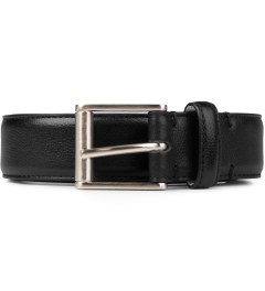 Thom Browne Black Pebbled Grain Calfskin Belt Picutre
