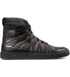 Damir Doma Black/Khaki FALCO High Layered Sneakers Picutre