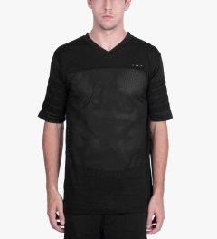 Publish Black Aikman Football Inspired Mesh Jersey Model Picutre