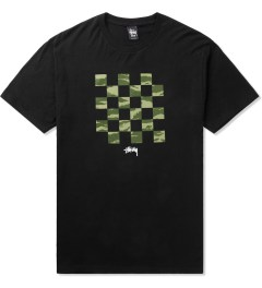 Stussy Black/Tiger Camo Check T-Shirt Picutre