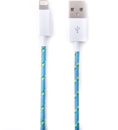 Eastern Collective Blue/White/Yellow Clover Lightning iPhone 5/5S Collective Cable Picutre