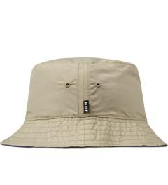 HUF Khaki/Eggplant Taslan Reversible Bucket Hat Model Picutre