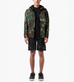HUF Woodland Camo 10K Tech Jacket Model Picutre