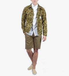 The Hundreds Khaki Kruger Short Model Picutre