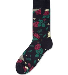 Benny Gold Black Dolores Floral Socks Picutre