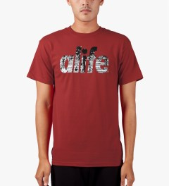 ALIFE Red Naturalize T-Shirt Model Picutre
