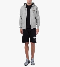 Stussy Heather Grey Camo WT Zip Hoodie Model Picutre