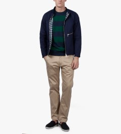 A.P.C. Dark Navy Rugby Stripe Sweater Model Picutre