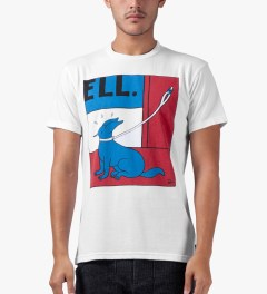 Rockwell by Parra White Wait Here T-Shirt Model Picutre