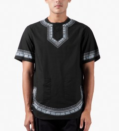 10.Deep Black DVSN Dashiki Shirt Model Picutre