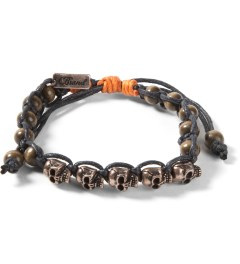 Icon Brand Burnished Silver Skull Bracelet Picutre