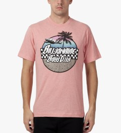 Billionaire Boys Club Heather Bubble Gum S/S Paradise T-Shirt Model Picutre
