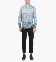 Casely Hayford Broken Ice Print Stanway Soft Collar Shirt Model Picutre