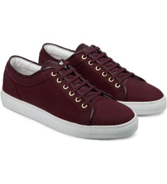 ETQ Maroon Waxed Low Top 1 Sneakers Model Picutre