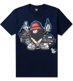 Stussy Navy Phade 8 Ball Man T-Shirt Picutre