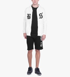 Undefeated White BS Zip Hoodie Model Picutre