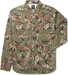 Stussy Natural Cheetah Camo Shirt Picutre