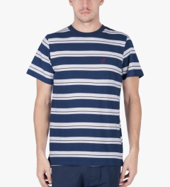 ONLY Navy Striped OK T-Shirt Model Picutre