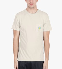 Lightning Bolt Silver Birch Aloha Pocket T-Shirt Model Picutre