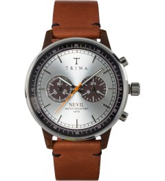 TRIWA Brown Stitch Havana Nevil Brown Watch Picutre