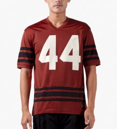 10.Deep Red Icons Jersey Model Picutre