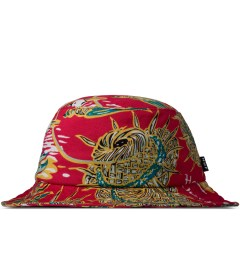 HUF Red Souvenir Bucket Hat Picutre
