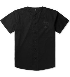 Stussy Black Baseball Shirt Picutre