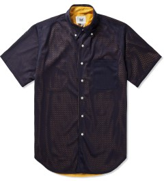 Mark McNairy Navy/Yellow SS BD REVERSIBLE MESH SHIRT Picutre