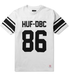 HUF White Wrecking Crew Football Jersey Picutre
